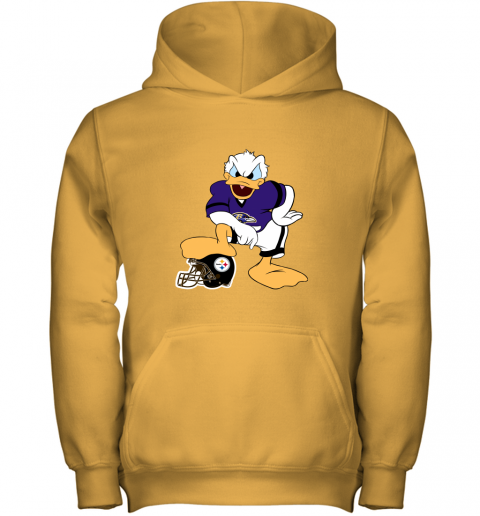 wusp you cannot win against the donald baltimore ravens nfl youth hoodie 43 front gold