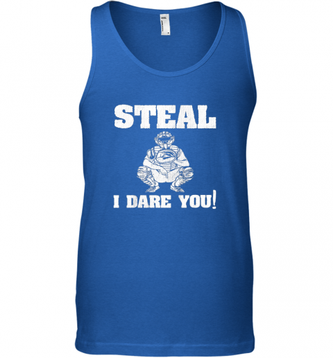 vfee kids baseball catcher gift funny youth shirt steal i dare you33 unisex tank 17 front royal
