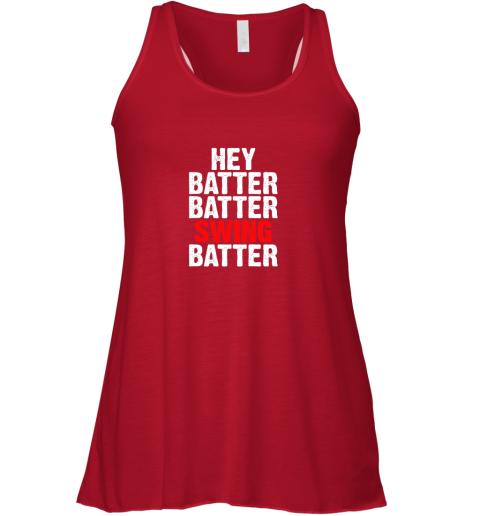 ioxk hey batter batter swing batter funny baseball flowy tank 32 front red