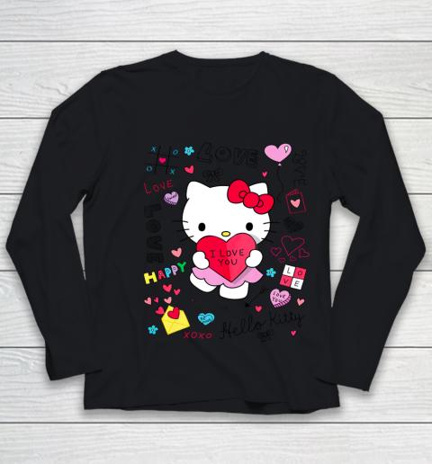 Hello Kitty Love Notes Valentine Tee Youth Long Sleeve