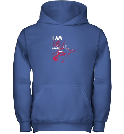 wuor i am the man in the iron mask baseball catcher youth hoodie 43 front royal