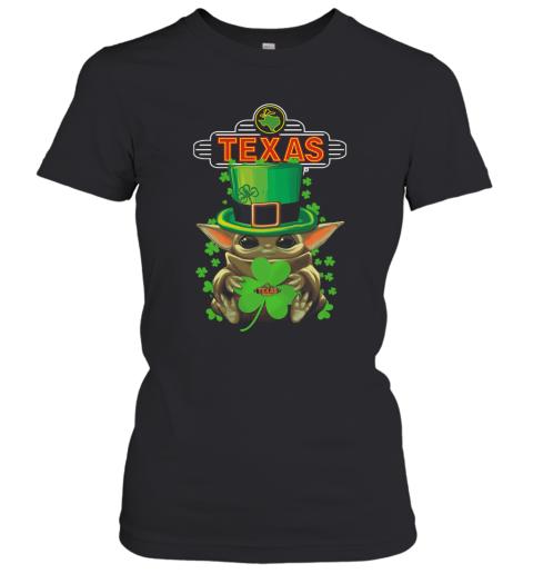 St Patrick'S Day Baby Yoda Hug Texas Roadhouse Women's T-Shirt