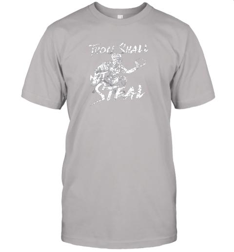 25jm thou shall not steal baseball catcher jersey t shirt 60 front ash