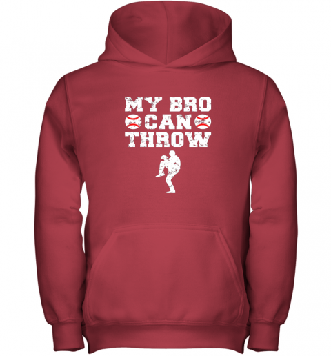 neqo kids cute baseball brother sister funny shirt cool gift pitcher youth hoodie 43 front red