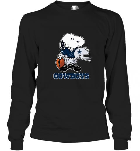 Snoopy Strong And Proud Dallas Cowboys Player NFL Long Sleeve T-Shirt