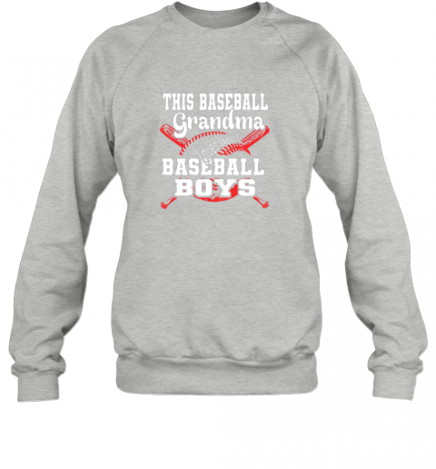 3szm this baseball grandma loves her baseball boys sweatshirt 35 front sport grey