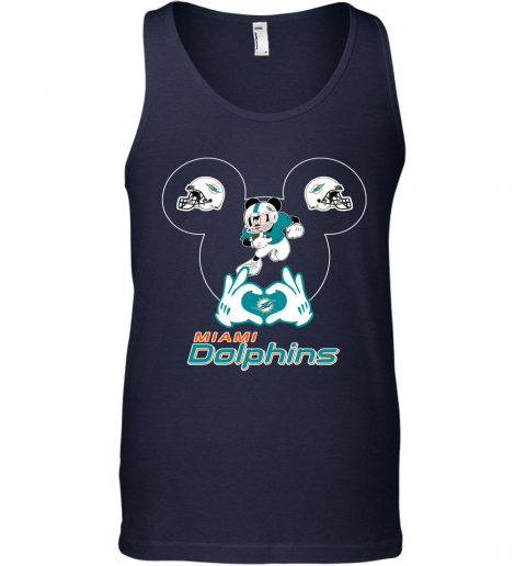 s0wz i love the dolphins mickey mouse miami dolphins unisex tank 17 front navy
