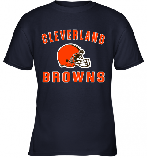 ab4y cleveland browns nfl line by fanatics branded brown victory youth t shirt 26 front navy