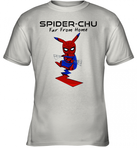 s2ww spider chu far from home spider man pokemon pikachu mashup shirts youth t shirt 26 front white