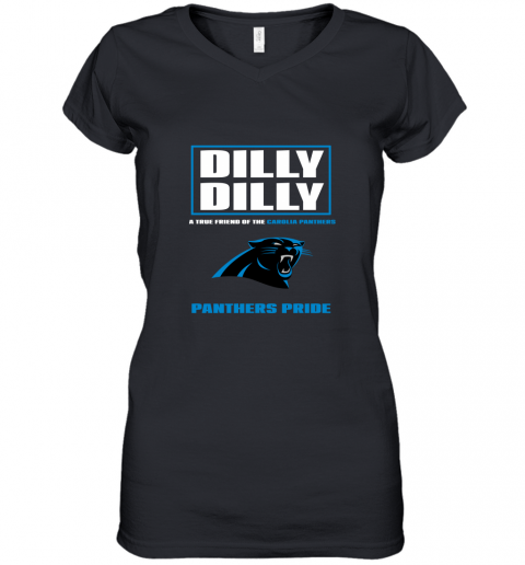 Dilly Dilly A True Friend Of The Carolina Panthers Women's V-Neck T-Shirt