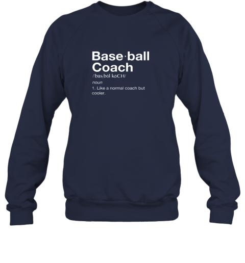 mswx coach baseball shirt team coaching sweatshirt 35 front navy