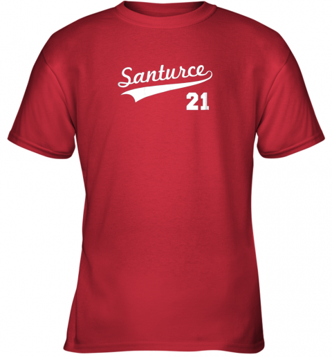 kwp2 vintage santurce 21 puerto rico baseball youth t shirt 26 front red
