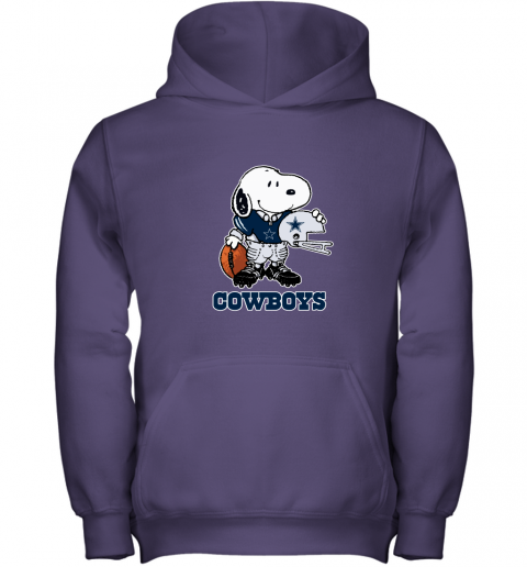 Snoopy A Strong And Proud Dallas Cowboys Player NFL Youth Hoodie