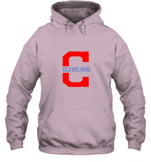 4sh3 cleveland hometown indian tribe vintage for baseball hoodie 23 front light pink