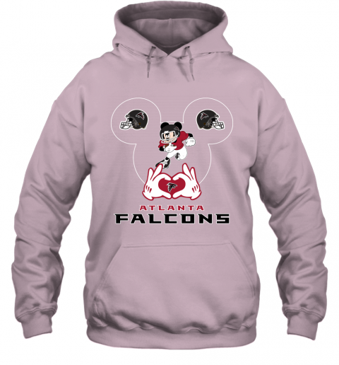 zzcq i love the falcons mickey mouse atlanta falcons hoodie 23 front light pink