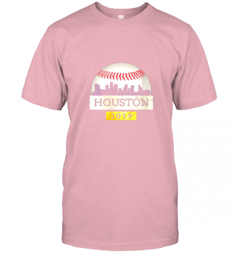 j2px houston baseball shirt 2019 astro skyline on giant ball jersey t shirt 60 front pink