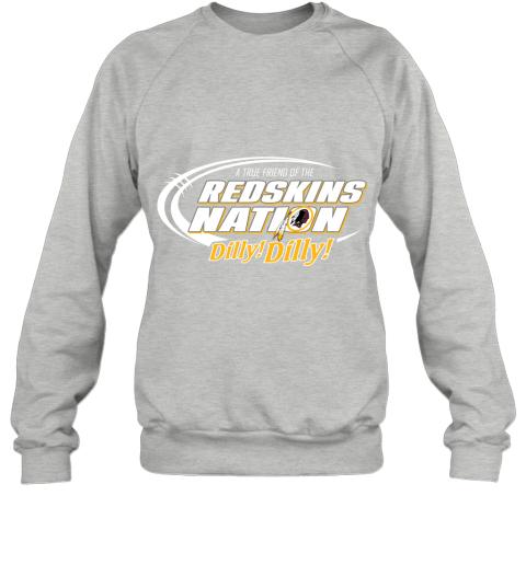 t5ot a true friend of the redskins nation sweatshirt 35 front sport grey