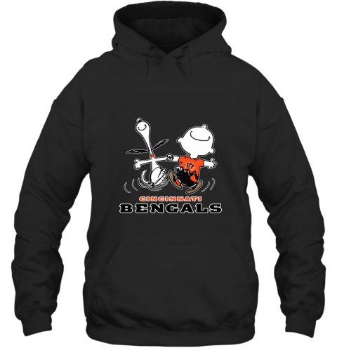Snoopy And Charlie Brown Happy Cincinnati Bengals Hoodie