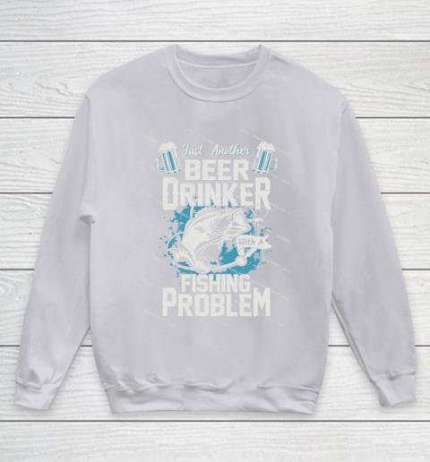Beer Lover Funny Shirt Fishing ANd Beer Youth Sweatshirt 3