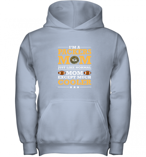 7zh0 im a packers mom just like normal mom except cooler nfl youth hoodie 43 front light pink