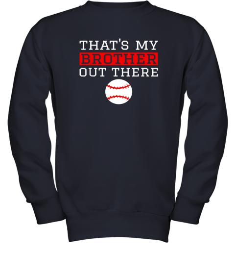 mug8 sister baseball gift that39 s my brother baseball sister youth sweatshirt 47 front navy