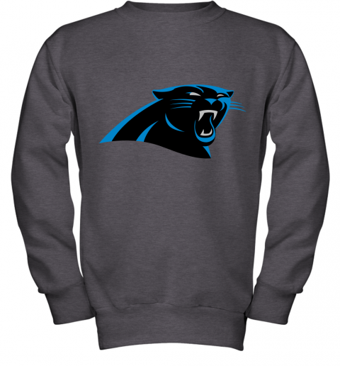 zunv panthers nfl pro line by fanatics branded gray victory youth sweatshirt 47 front dark heather