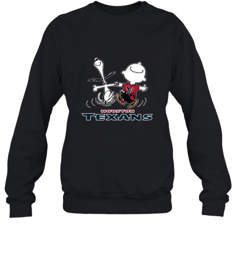 Snoopy And Charlie Brown Happy Houston Texans NFL Sweatshirt
