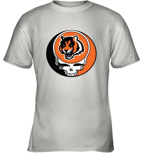 NFL Team Cincinnati Bengals x Grateful Dead Logo Band Youth T-Shirt