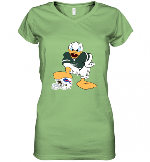 u55p you cannot win against the donald new york jets nfl women v neck t shirt 39 front lime