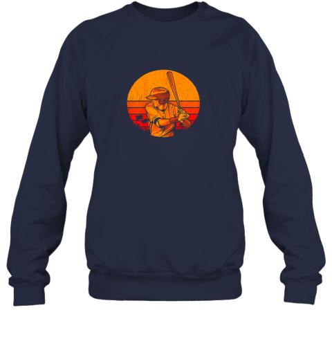 41fp vintage baseball shirt retro catcher pitcher batter boys sweatshirt 35 front navy