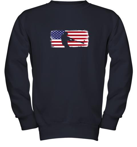 txxv usa american flag baseball player perfect gift youth sweatshirt 47 front navy