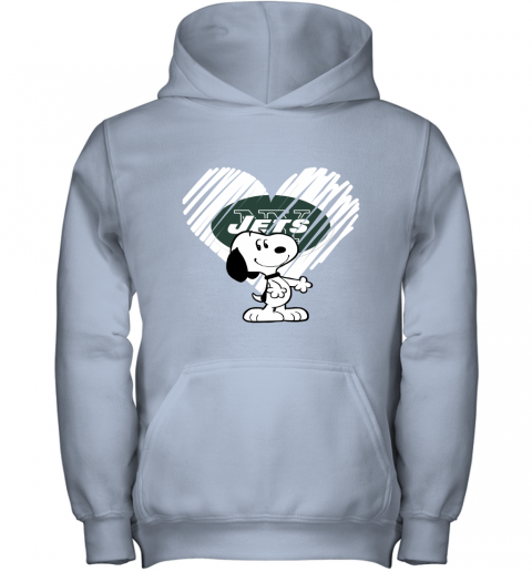 lvum i love new york jets snoopy in my heart nfl youth hoodie 43 front light pink
