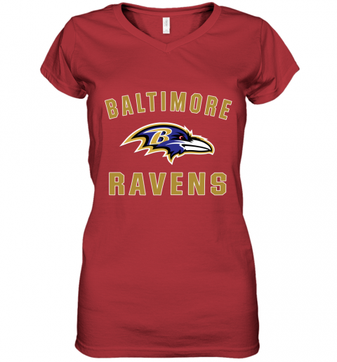 4thx mens baltimore ravens nfl pro line by fanatics branded gray victory arch t shirt women v neck t shirt 39 front red