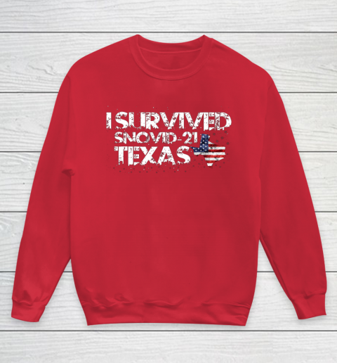 I Survived Snovid 21 Texas Youth Sweatshirt 7