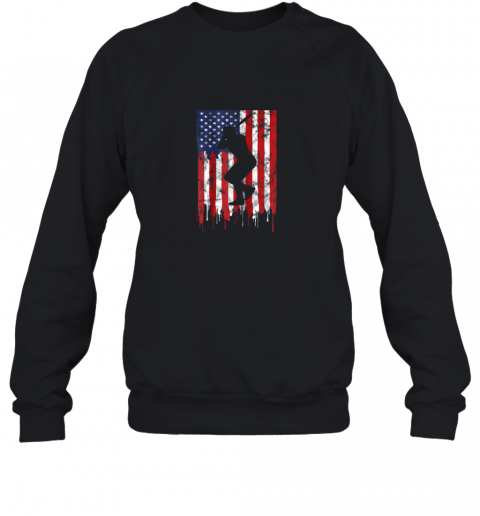 Vintage Patriotic American Flag Baseball Shirt USA Sweatshirt