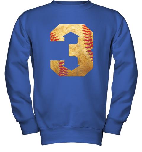 qrkl three up three down baseball 3 up 3 down youth sweatshirt 47 front royal