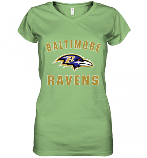 4thx mens baltimore ravens nfl pro line by fanatics branded gray victory arch t shirt women v neck t shirt 39 front lime