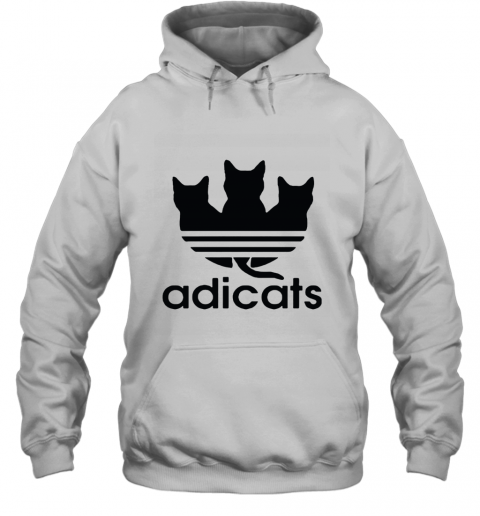 Adicats Three Black Cats Adidas Logo Mashup Hoodie