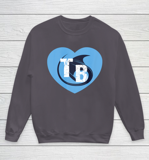 Stingray Love Tampa Bay Vintage TB Cool Tampa Bay Heart Youth Sweatshirt 6
