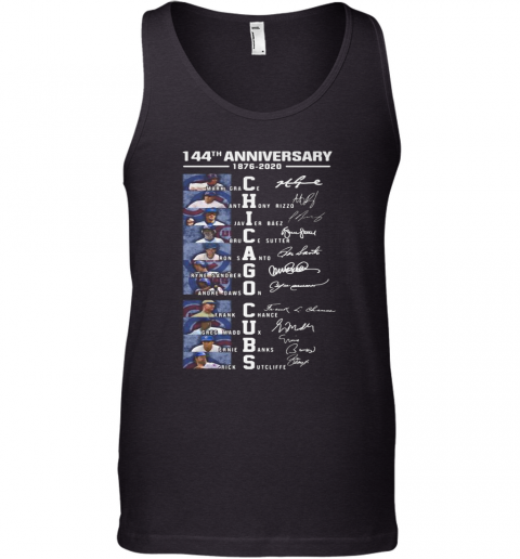 144Th Anniversary 1876 2020 Chicago Cubs Signatures Tank Top