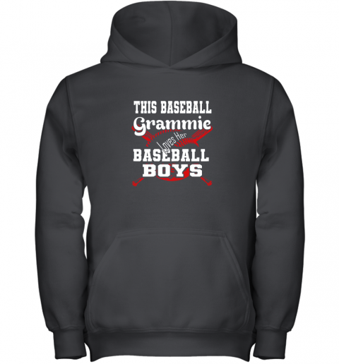 This Baseball Grammie Loves Her Baseball Boys Youth Hoodie