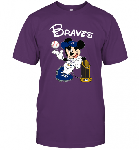 hnw2 atlanta braves mickey taking the trophy mlb 2019 jersey t shirt 60 front team purple