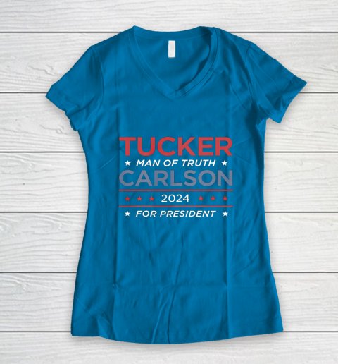 Vote For Tucker Carlson 2024 Presidential Election Campaign Women's V-Neck T-Shirt 5