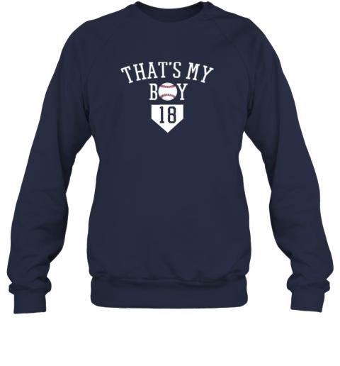 t6y9 that39 s my boy 18 baseball number 18 jersey baseball mom dad sweatshirt 35 front navy