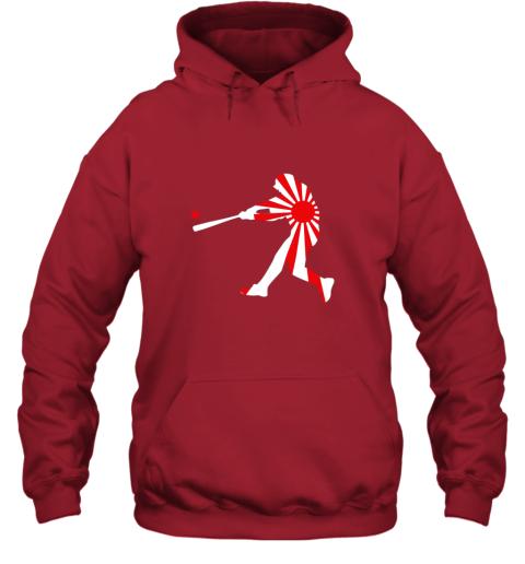 xlvo japan baseball shirt jpn batter classic nippon flag jersey hoodie 23 front red