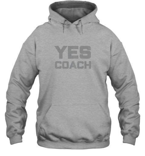 tzzl yes coach gift shirt funny coaching training hoodie 23 front sport grey