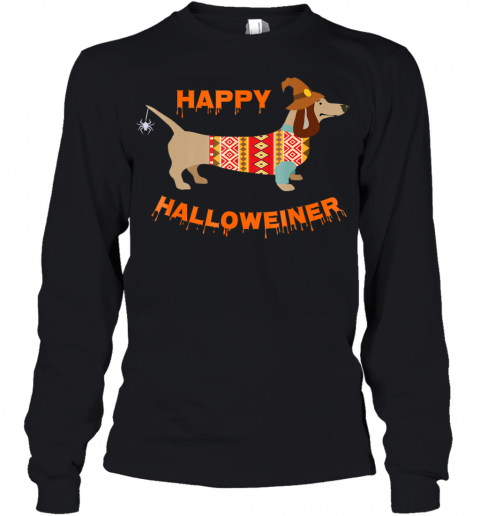 Halloween Weiner Daschund Youth Long Sleeve