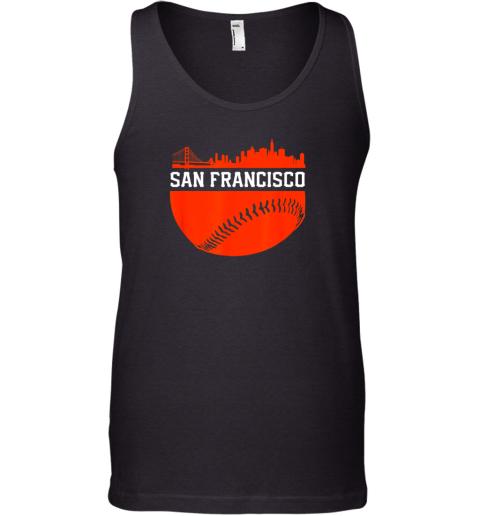 San Francisco Baseball Vintage SF The City Skyline Gift Tank Top