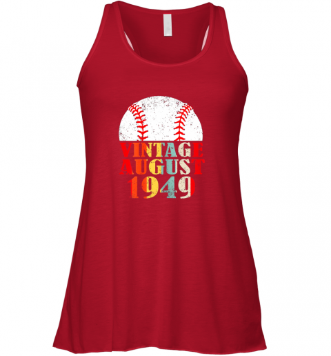 oedq born august 1949 baseball shirt 70th birthday gifts flowy tank 32 front red