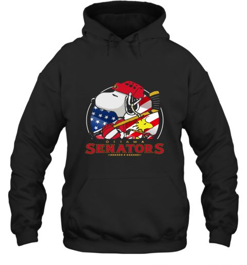 Ottawa Senators Ice Hockey Snoopy And Woodstock NHL Hoodie